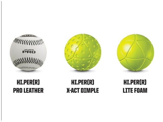 Compatible Ball Types | M1 Baseball Machine | ATEC