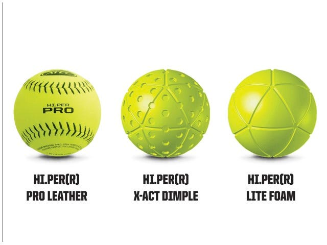 Compatible Ball Types | M1 Softball Machine | ATEC