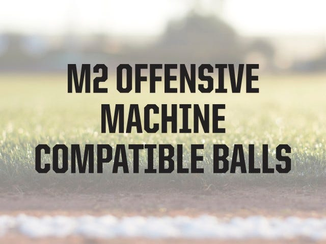 Compatible Ball Types | M2 Baseball Machine | ATEC