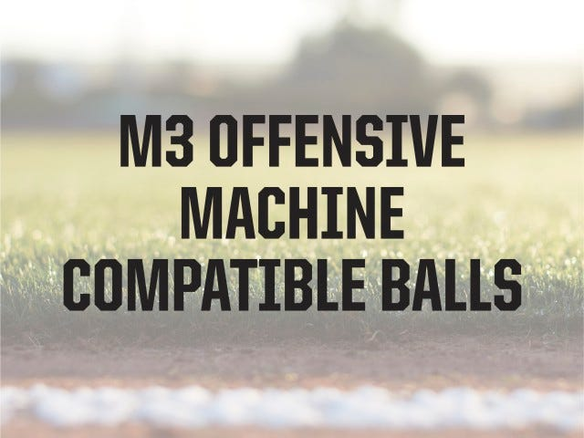 Compatible Ball Types | M3 Softball Machine | ATEC