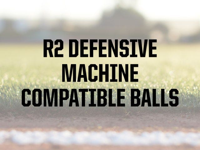 Compatible Ball Types | R2 Baseball Machine | ATEC