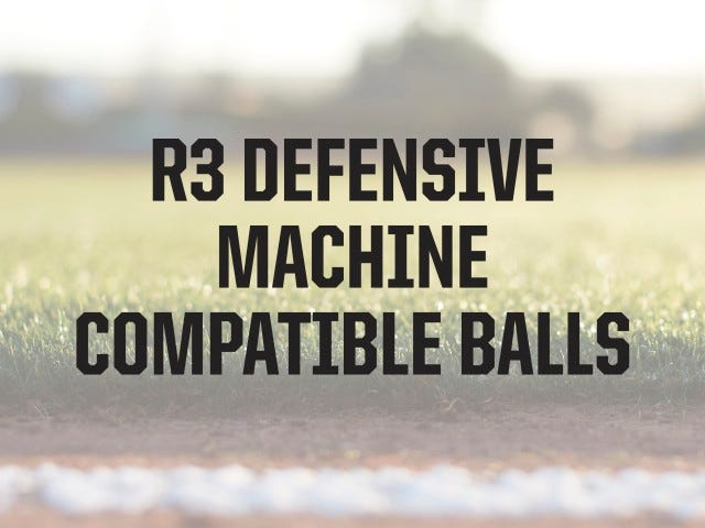 Compatible Ball Types | R3 Baseball Machine | ATEC