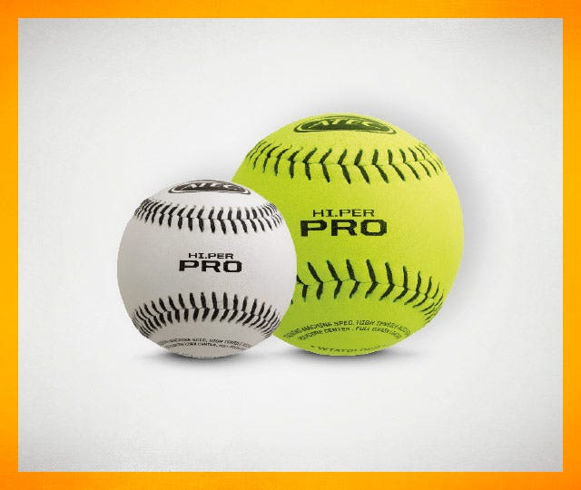 Shop pitching machine and training balls